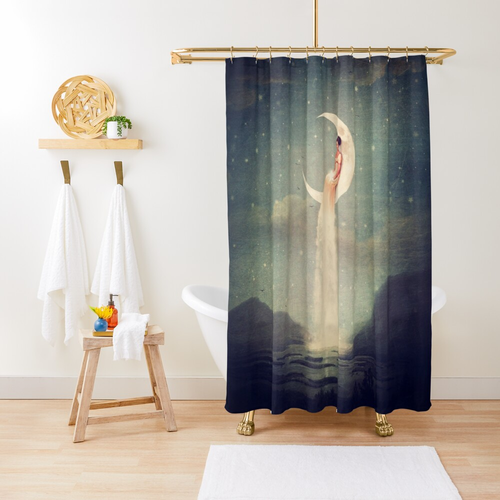 Moon River Lady Shower Curtain