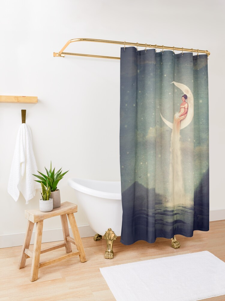 Alternate view of Moon River Lady Shower Curtain