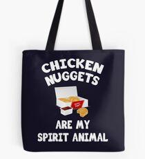 Bolsa de tela Los Nuggets de pollo son mi espíritu animal