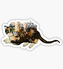 glitch tortoiseshell Sticker