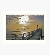 Cameron's Bight Jetty & boats Art Print