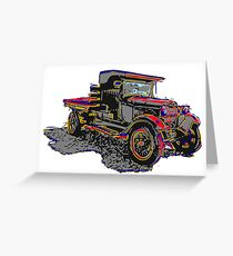 Old Truck Digital Graphic Lithograph Greeting Card