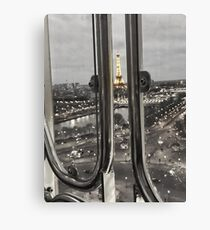 Paris from Above at Night Canvas Print