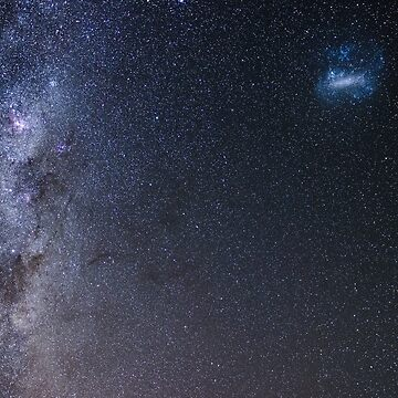 The Milky Way and Magellanic Clouds by andiemeganb