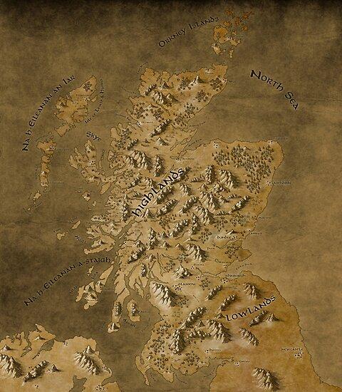 Map of Scotland by Callum Ogden