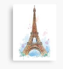 Paris Hand Drawn Painting Amazing Design Canvas Print