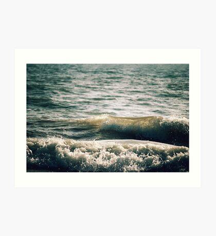Wellen Kunstdruck