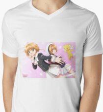 Camiseta para hombre de cuello en v Card Captor Sakura 7404559c65a5