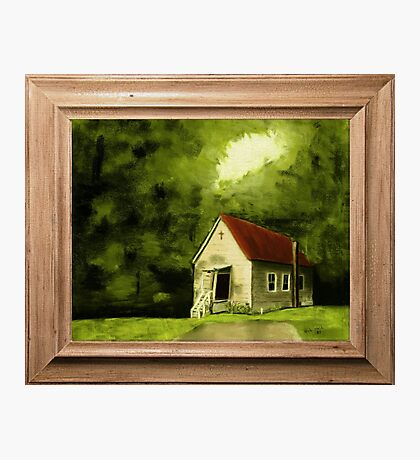 """""""Country Church, version 1"""" ... with a canvas and framed presentation, for prints and products Photographic Print"""