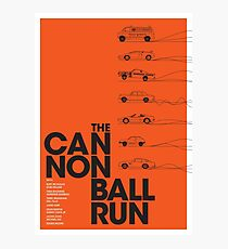 The Cannonball Run Photographic Print