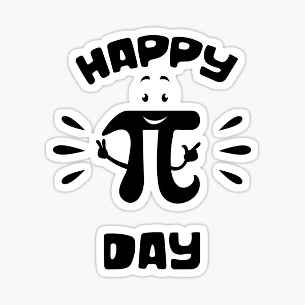 Happy PI Day design Sticker