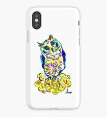 Owl on gold coins iPhone Case/Skin