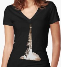 Falcon 9 Launch At night Women's Fitted V-Neck T-Shirt