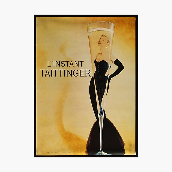 Vintage Champagne Poster  Photographic Print