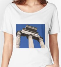 Italy Rome Ancient Columns  Women's Relaxed Fit T-Shirt