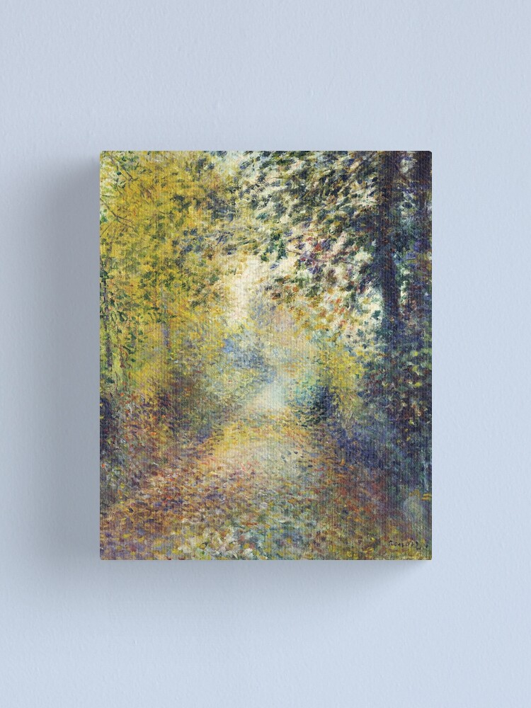 Alternate view of In the Woods by Renoir 1880 Canvas Print