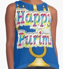 Happy Purim! Esther, King Ahasuerus, Vizier Haman, Torah, Mordecai, drinking feast Contrast Tank