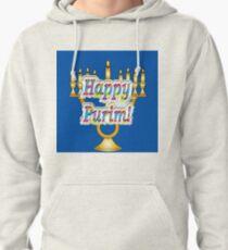 Happy Purim! Esther, King Ahasuerus, Vizier Haman, Torah, Mordecai, drinking feast Pullover Hoodie