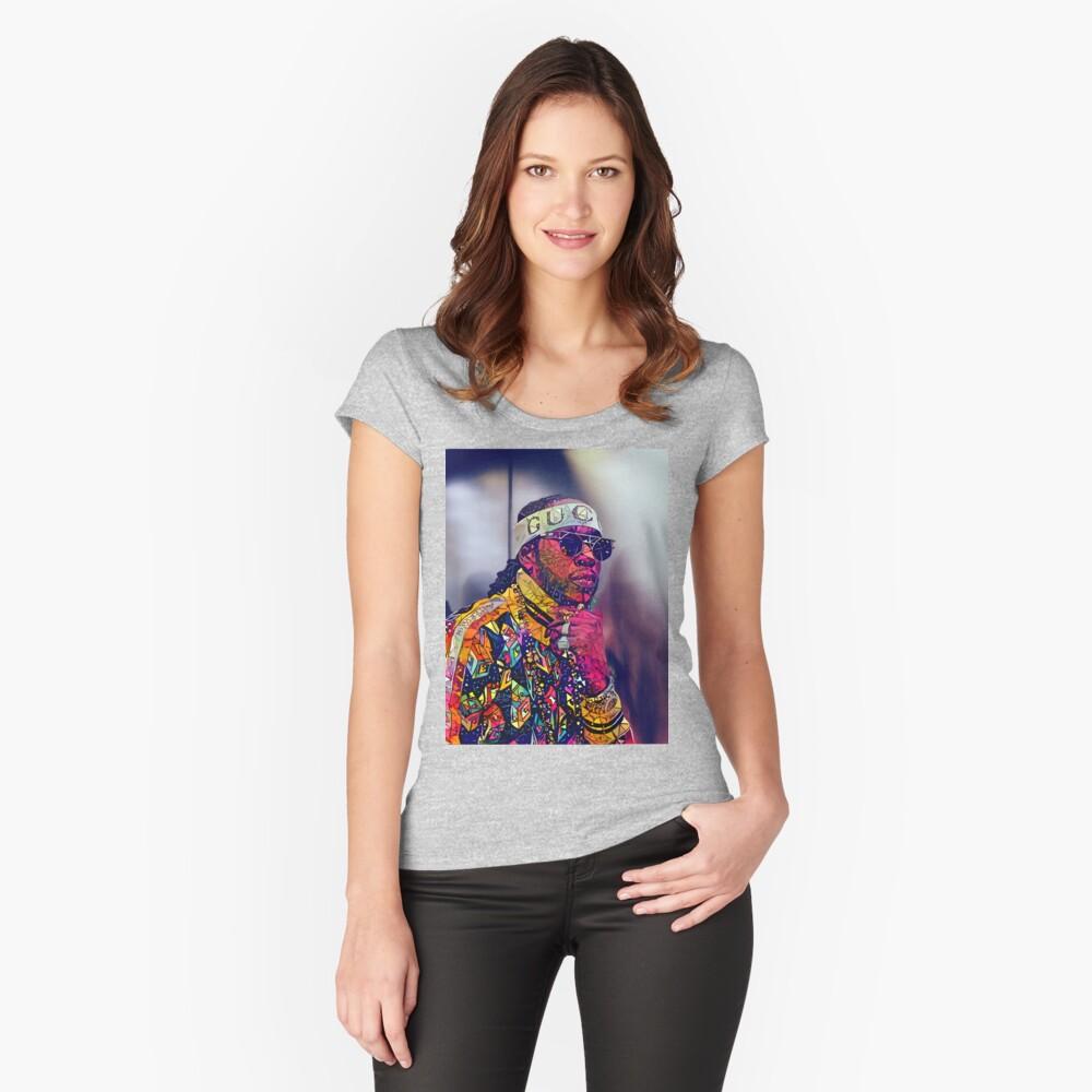 Zusammenfassung 2 Chainz Tailliertes Rundhals-Shirt