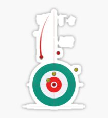 Winter Olympics Curling Design Sticker