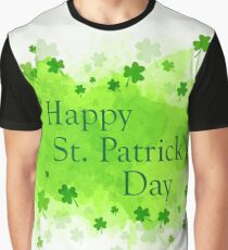 St. Patrick's Day Background Graphic T-Shirt