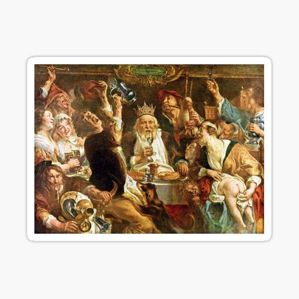 Happy Purim! Esther, King Ahasuerus, Vizier Haman, Mordecai, Torah, drinking feast, Purim, Haman, Esther, Happy Purim, פּוּרִים,  Sticker
