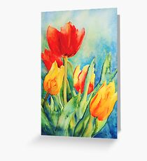 Primary Tulips Greeting Card