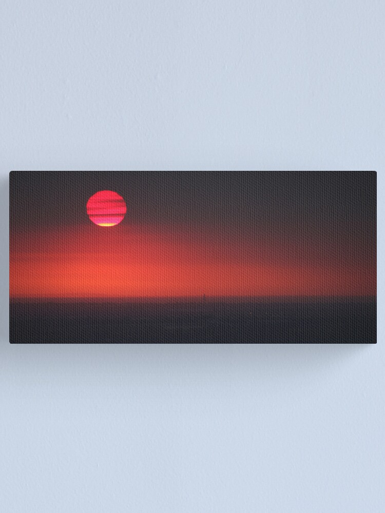 Alternate view of Friday 13th sunset Canvas Print
