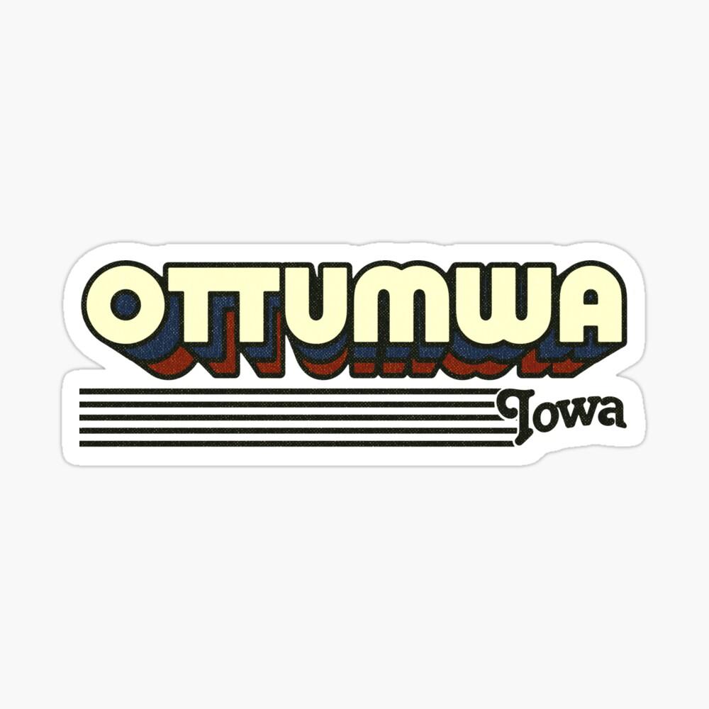 Ottumwa, Iowa | Retro Stripes Sticker