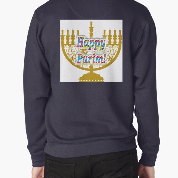 Purim, Jews, King Ahasuerus, Queen Vashti, Jewish girl, Esther, antisemitic Haman, Mordechai, feast Pullover Sweatshirt