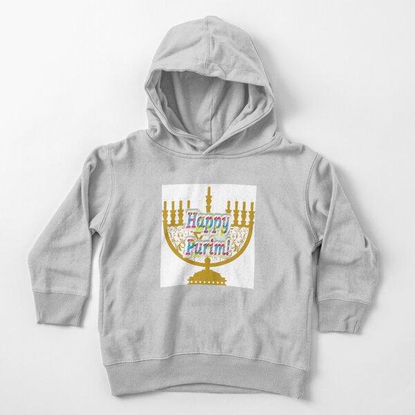Purim, Jews, King Ahasuerus, Queen Vashti, Jewish girl, Esther, antisemitic Haman, Mordechai, feast Toddler Pullover Hoodie