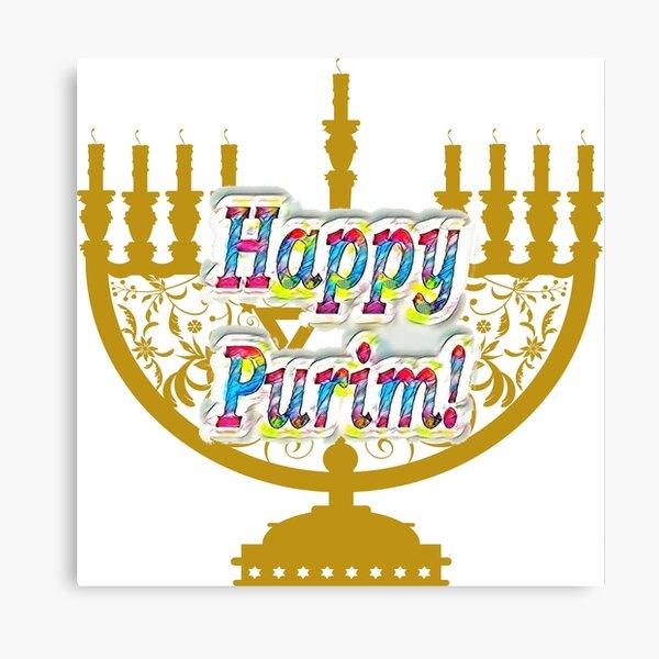 Purim, Jews, King Ahasuerus, Queen Vashti, Jewish girl, Esther, antisemitic Haman, Mordechai, feast Canvas Print