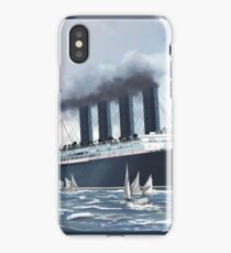Lusitania's Final Day - Painting | Art by Eliott Cha'coco iPhone Case/Skin