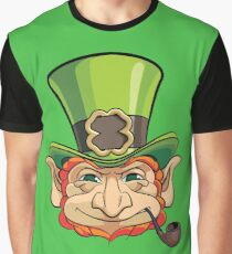 Leprechauns Head Graphic T-Shirt