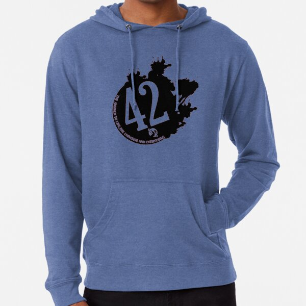 42 is the Answer - The Hitchhiker's Guide to the Galaxy Lightweight Hoodie