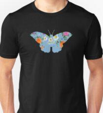 Flowery Butterfly Unisex T-Shirt
