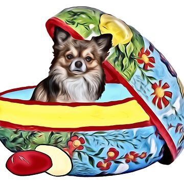Easter Egg Chihuahua by IowaArtist