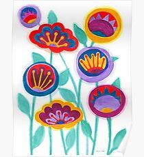raw flower garden Poster