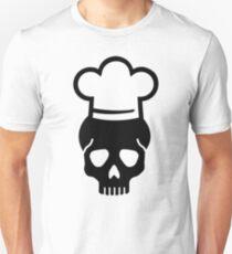 Skull chefs hat Unisex T-Shirt