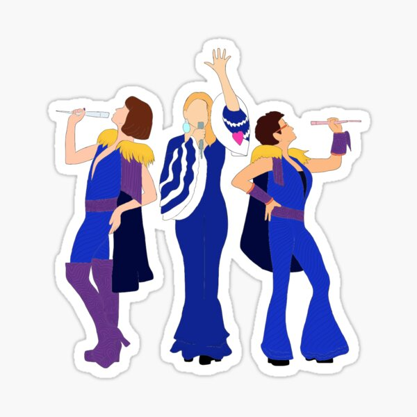 Donna and the Dynamos - Mamma Mia Sticker