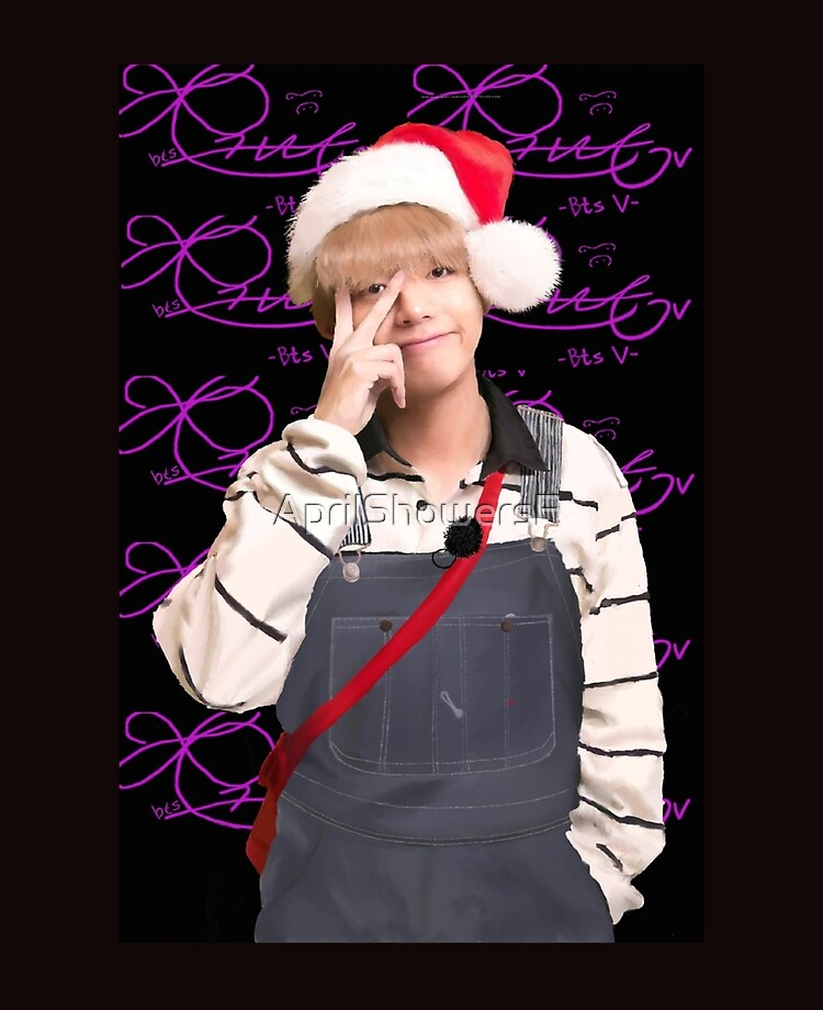 V Taehyung Christmas Fan Art From Bts Ipad Case Skin By