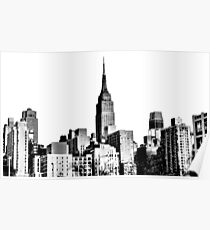 Empire State Building from the West | NYC Icons Poster