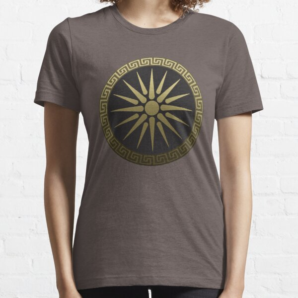 Ancient Macedon Shield Alexander the Great Essential T-Shirt