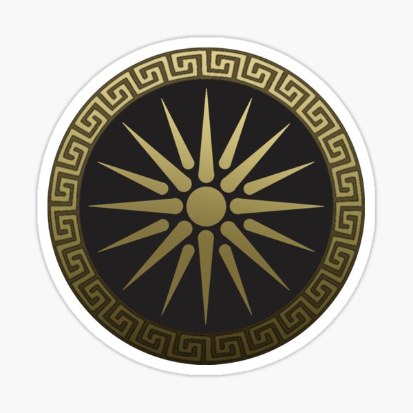 Ancient Macedon Shield Alexander the Great Sticker