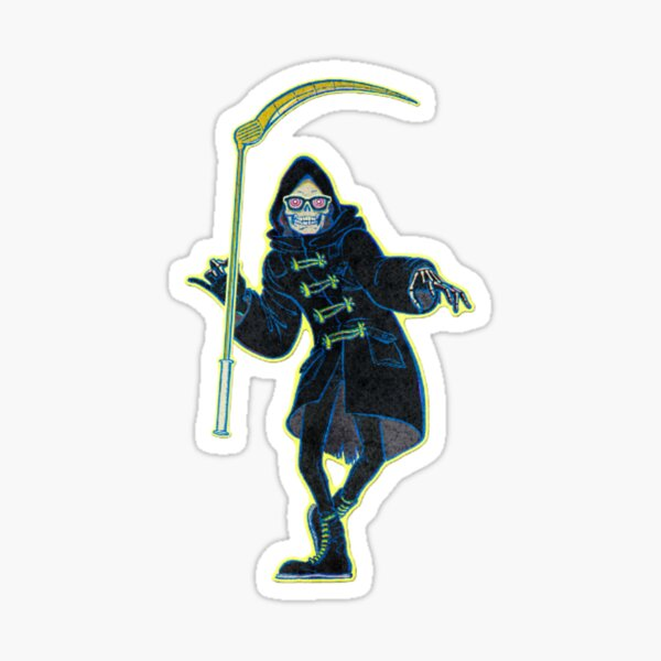 Let it die Uncle death sempai Senpai sickle Sticker