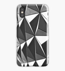Black&White Spaceship Earth iPhone Case/Skin