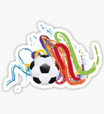Soccer Ball with Brush Strokes Sticker