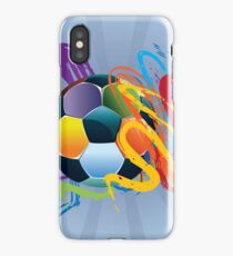Soccer Ball with Brush Strokes 2 iPhone Case/Skin
