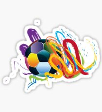 Soccer Ball with Brush Strokes 2 Sticker