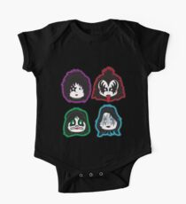 Kiss faces (band) One Piece - Short Sleeve